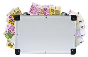 Lottosysteme Geldkoffer